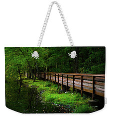 Weekender Tote Bag featuring the photograph The Bridge At Wolfe Park by Karol Livote