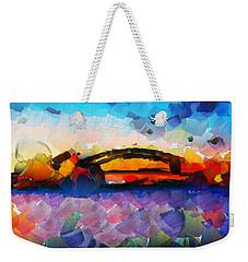 The Bridge I Will Cross Weekender Tote Bag by Sir Josef - Social Critic -  Maha Art