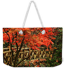 The Bridge In The Park Weekender Tote Bag by Connie Handscomb