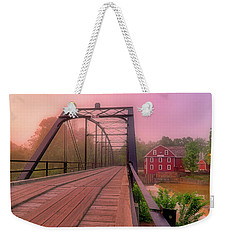 The Bridge To War Eagle Mill - Arkansas - Historic - Sunrise Weekender Tote Bag
