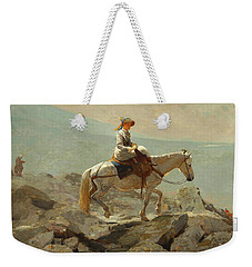 Weekender Tote Bag featuring the painting The Bridle Path, White Mountains - 1868 by Winslow Homer