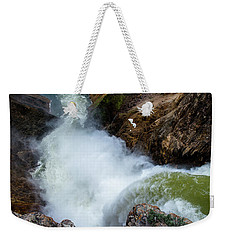 The Brink Of The Lower Falls Of The Yellowstone River Weekender Tote Bag