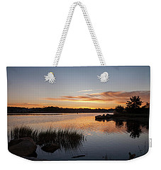 The Brink - Pawcatuck River Sunrise Weekender Tote Bag