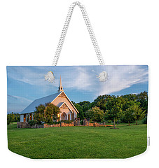 Weekender Tote Bag featuring the photograph The Brooks At Weatherford Wedding Chapel by Robert Bellomy