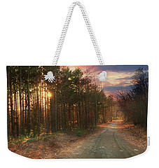 Weekender Tote Bag featuring the photograph The Brown Path Before Me by Lori Deiter
