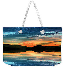 The Brush Strokes Of Evening Weekender Tote Bag by Tara Turner