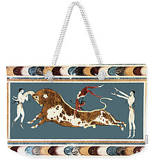 The Bull Of Knossos Weekender Tote Bag by Unknown
