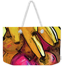 The Bunch Of Yellow Bananas With The Pink Apples Weekender Tote Bag