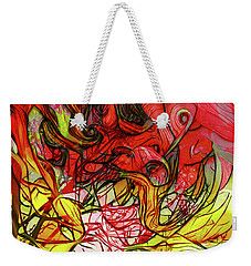 Weekender Tote Bag featuring the digital art The Burning Bush Encounter by Steve Taylor