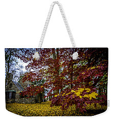 The Cabin In Autumn Weekender Tote Bag