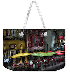 The Cafe At Night Weekender Tote Bag