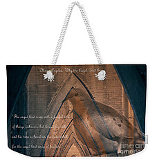the Caged Bird Sings - Maya Angelou inspiring quote Weekender Tote Bag