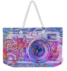 Weekender Tote Bag featuring the digital art The Camera - 02c3t by Variance Collections