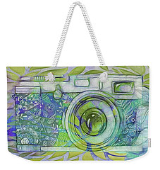 Weekender Tote Bag featuring the digital art The Camera - 02c5b by Variance Collections