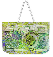 Weekender Tote Bag featuring the digital art The Camera - 02c5bt by Variance Collections