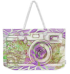 Weekender Tote Bag featuring the digital art The Camera - 02c6 by Variance Collections