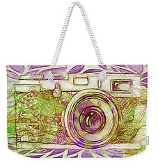 Weekender Tote Bag featuring the digital art The Camera - 02c6t by Variance Collections