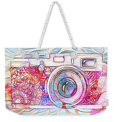 Weekender Tote Bag featuring the digital art The Camera - 02c8v2 by Variance Collections