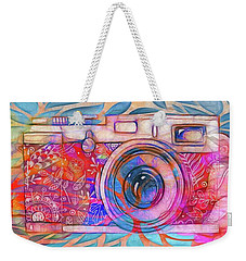 Weekender Tote Bag featuring the digital art The Camera - 02v2 by Variance Collections