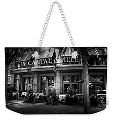 The Capital Grille In Black And White Weekender Tote Bag