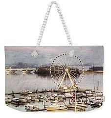 The Capital Wheel At National Harbor Weekender Tote Bag