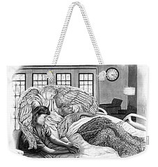 Weekender Tote Bag featuring the drawing The Caregiver by Peter Piatt