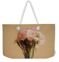 Weekender Tote Bag featuring the digital art The Carnations by Ernie Echols