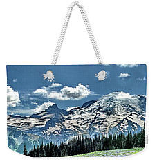 The Cascade Mountains And Mt. Rainier Weekender Tote Bag