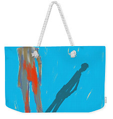 Weekender Tote Bag featuring the painting The Cast Shadow by Jim Vance