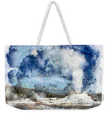 The Castke Geyser In Yellowstone Weekender Tote Bag
