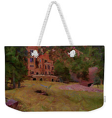 Weekender Tote Bag featuring the digital art The Castle by Ernie Echols