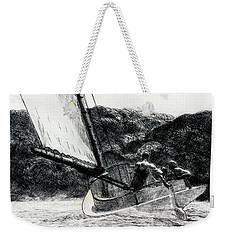 The Cat Boat Weekender Tote Bag