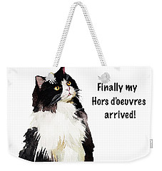 Weekender Tote Bag featuring the painting The Cat's Hors D'oeuvres by Colleen Taylor