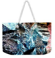 The Caves Of Q'th Weekender Tote Bag by Nature Macabre Photography