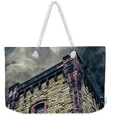 Weekender Tote Bag featuring the photograph The Cell Block Restaurant by Greg Reed