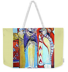 Weekender Tote Bag featuring the painting The Chains That Bind Us To Christ by Mindy Newman