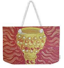 Weekender Tote Bag featuring the painting The Chalice Or Holy Grail by Michele Myers