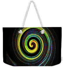 Weekender Tote Bag featuring the digital art The Chameleon Snake Skin by Steve Taylor