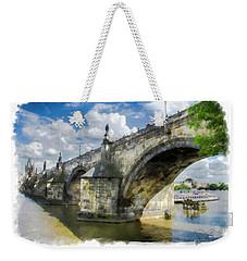 The Charles Bridge - Prague Weekender Tote Bag by Tom Cameron