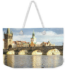 The Charles Bridge Weekender Tote Bag by Wade Brooks