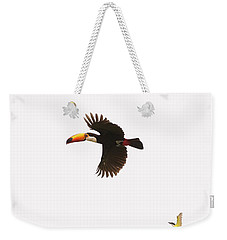 Weekender Tote Bag featuring the photograph The Chase by Alex Lapidus