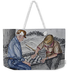 The Chess Game With Old Friends Weekender Tote Bag