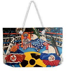 The Chickens Fight Weekender Tote Bag