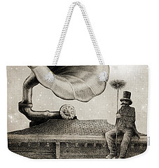 The Chimney Sweep Monochrome Weekender Tote Bag