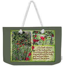The Chosen Weekender Tote Bag by Larry Bishop