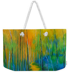 Weekender Tote Bag featuring the painting The Chosen Path  by Alison Caltrider