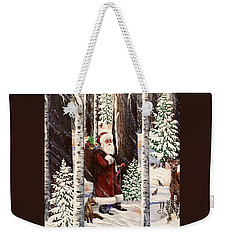 The Christmas Forest Visitor 2 Weekender Tote Bag