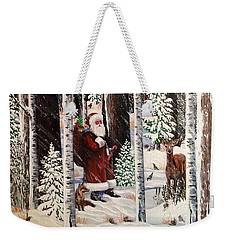 The Christmas Forest Visitor Weekender Tote Bag