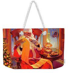 The Christmas List Weekender Tote Bag