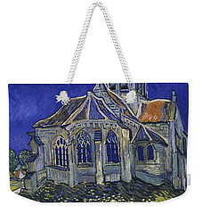 Weekender Tote Bag featuring the painting The Church At Auvers by Van Gogh